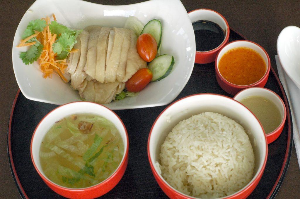 Cơm gà nổi tiếng tại Tian Tian